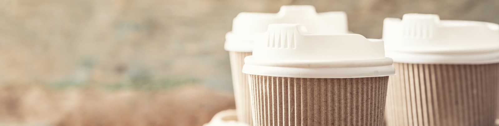 Takeaway cups recycling process